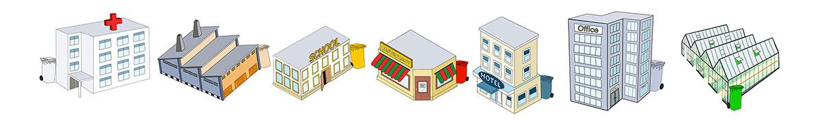 Composteermachines voor bedrijven
